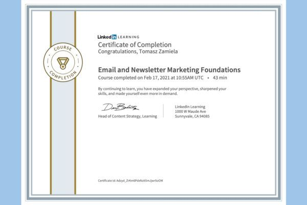Email and Newsletter Marketing Foundations