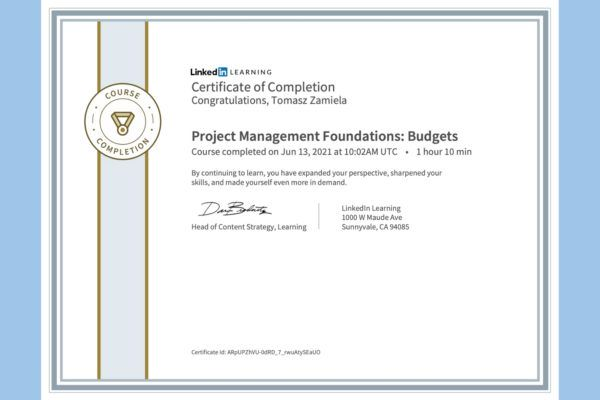 Project Management Foundations: Budgets