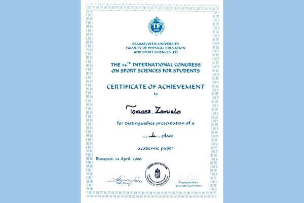 The 14th International Congress on Sport Sciences for Students